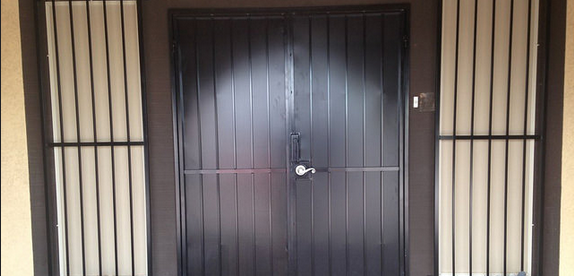 iron security door