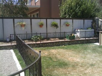 iron fence for flower bed